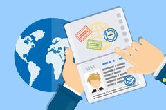 Visa of man. Stock Photography
