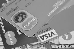 Visa, Master Card, Maestro Stock Photography