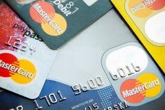 Visa and MasterCard credit cards Royalty Free Stock Image