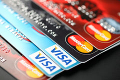 Visa and Mastercard Royalty Free Stock Photography