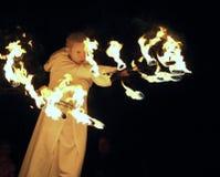 Visa med brand Arkivbild