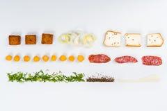 Visa mig maten Arkivbilder