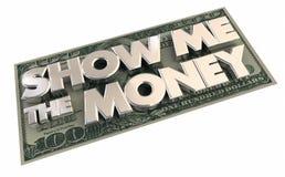 Visa mig pengarna avtalet för kontant inkomst vektor illustrationer