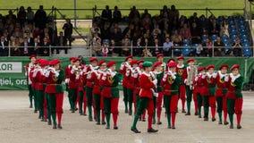 Visa musikbandet Les Armourins från Schweiz Royaltyfria Bilder