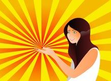 visa något kvinnan royaltyfri illustrationer
