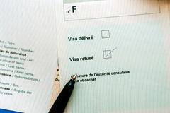 Visa negada Imagen de archivo