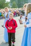 Visa på berömmen 1st september. St Petersburg Fotografering för Bildbyråer