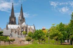 Visa på den Cologne domkyrkan royaltyfria bilder