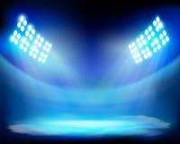 Visa på stadion också vektor för coreldrawillustration Arkivbild