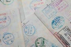Visa on passport Stock Photography