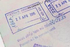 Visa passport stamp from vietnam Royalty Free Stock Photo
