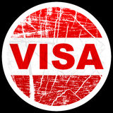 Visa stamp Royalty Free Stock Photos