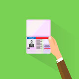 Visa Stamp Passport Flat Icon Businessman Hand Royalty Free Stock Photo