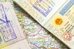 Visa stamp Stock Image