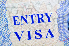 Visa stamp travel Royalty Free Stock Photos