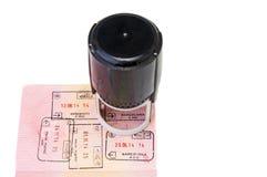 Visa stamp Stock Photography