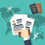 Visa stamping vector illustration. royalty free illustration