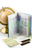 Visa stamps royalty free stock photo