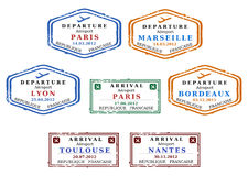 Visa stamps Stock Images