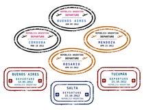 Visa stamps - Argentina Stock Image