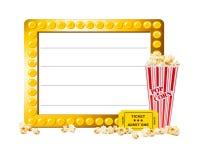 Visa stort festtält med popcorn royaltyfri illustrationer