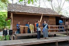 visa thai traditionellt Arkivfoto
