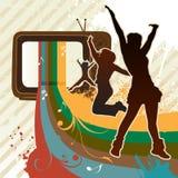 visa tv:n royaltyfri illustrationer