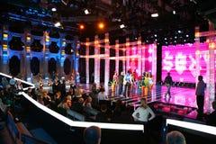 visa tv:n Arkivbild
