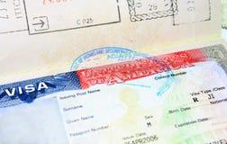 Visa vacía de J1 los E.E.U.U. para el hombre imagen de archivo libre de regalías
