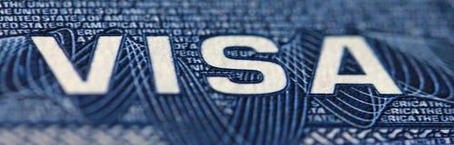 Visa vers les Etats-Unis d'Amérique, Etats-Unis, se concentrant sur le mot VISA Photographie stock