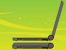 visad bärbar datorsida Fotografering för Bildbyråer