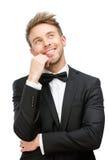 Visage émouvant de sourire d'homme d'affaires Image libre de droits