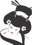 Visage 06 de geisha Image libre de droits