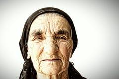 Visage aîné de femme image libre de droits