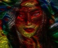 Visage abstrait de femme asiatique Photo libre de droits