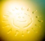 Visage abstrait de Sun Illustration Stock