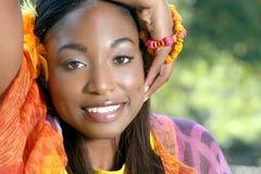 Visage africain ethnique de femme Images libres de droits
