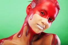 Visage-art créateur Images libres de droits