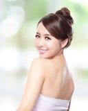 Visage asiatique attrayant de femme photographie stock libre de droits