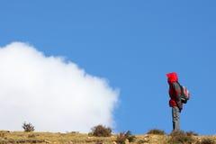 Visage aux nuages Photographie stock libre de droits