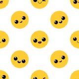 Visage avec le sourire Configuration sans joint Photographie stock libre de droits