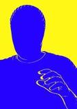 Visage blanc Photographie stock libre de droits