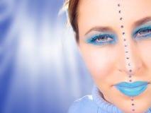 Visage bleu images libres de droits