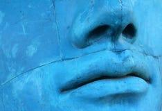 Visage bleu de mosaïque Photographie stock libre de droits