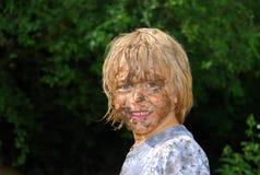 Visage boueux 3 Photos libres de droits