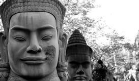 Visage cambodgien Images libres de droits