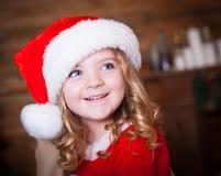 Visage, chapeau de Noël ! Image stock