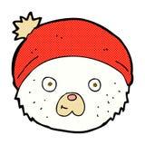 visage comique d'ours de nounours de bande dessinée Image stock