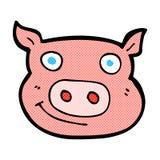 visage comique de porc de bande dessinée Photo stock