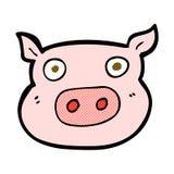 visage comique de porc de bande dessinée Photographie stock libre de droits